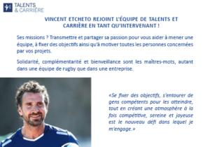 Talents & Carrière Conseil en Outplacement à Paris et Bordeaux Présentation Vincent Etcheto